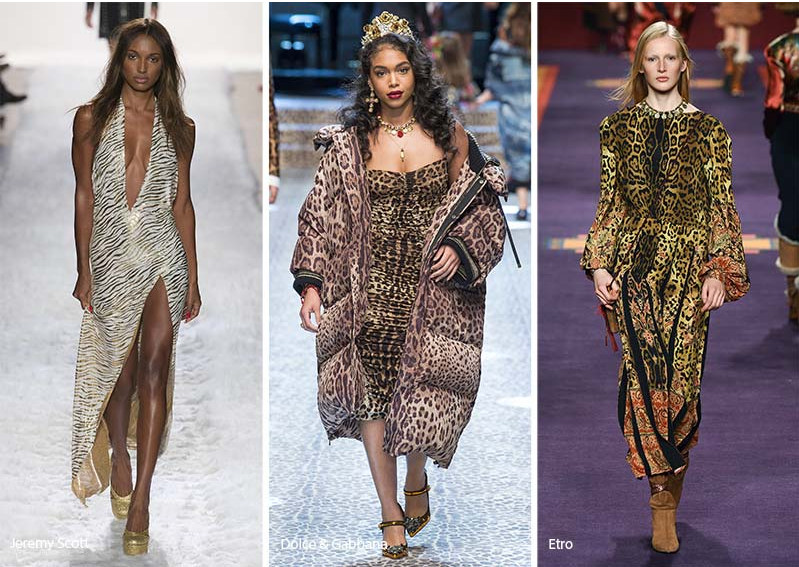 kocie printy, panterka Dolce&Gabbana, Etro, pokazy mody w panterkę