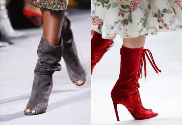 eleganckie sznurowane botki bez palców z wysoką cholewką