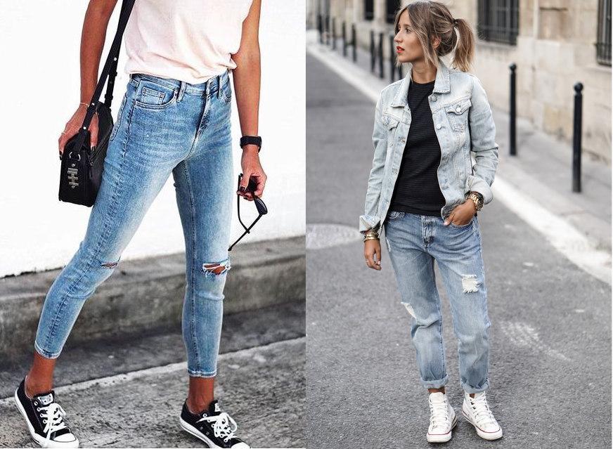 trampki do jeansów typu skinny jeans lub boyfriendy
